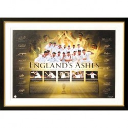 Ashes 2010/11 Print with original signatures