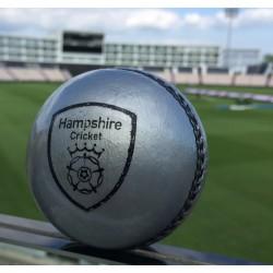 Hampshire Presentation Silver Cricket Ball