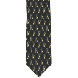 Traditional Cricket Tie Navy/Green