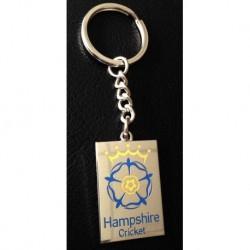 Luxury Hampshire Cricket Key Ring