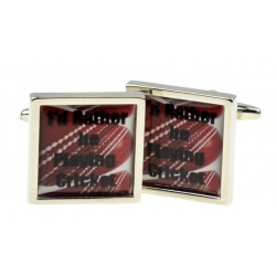 Rather play cricket cufflinks