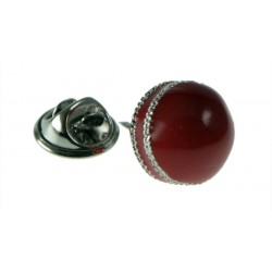 Cricket ball Lapel Badge