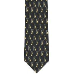 Traditional Cricket Tie Navy/Green
