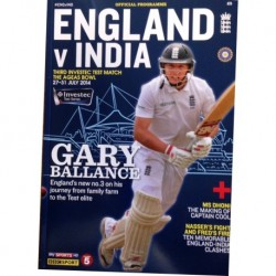 England VS India Test Match Programme