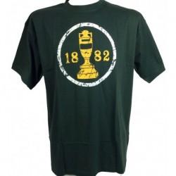 1882 Ashes Urn T Shirt Green/Gold