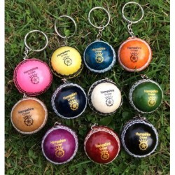Hampshire Leather Ball Keyring 11 Colours
